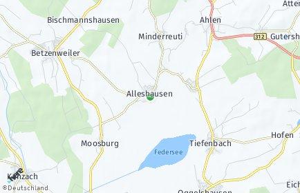 Stadtplan Alleshausen