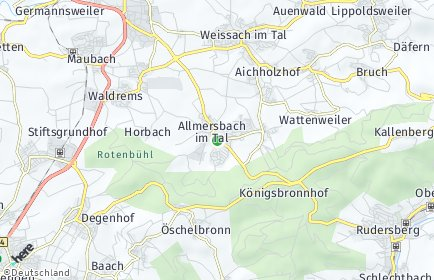 Stadtplan Allmersbach im Tal