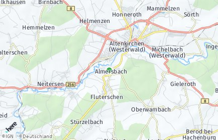 Stadtplan Almersbach