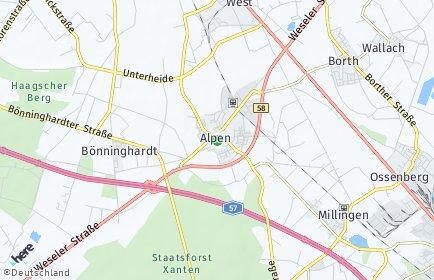 Stadtplan Alpen