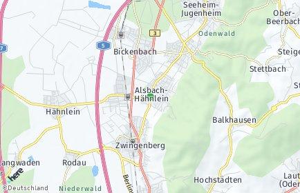 Stadtplan Alsbach-Hähnlein
