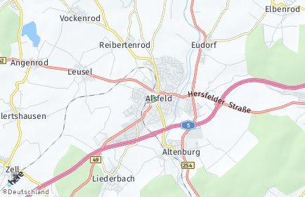 Stadtplan Alsfeld