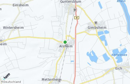 Stadtplan Alsheim