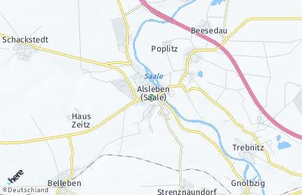 Stadtplan Alsleben (Saale)