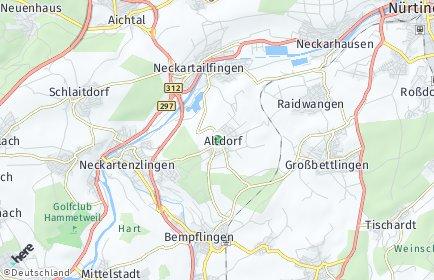 Stadtplan Altdorf bei Nürtingen