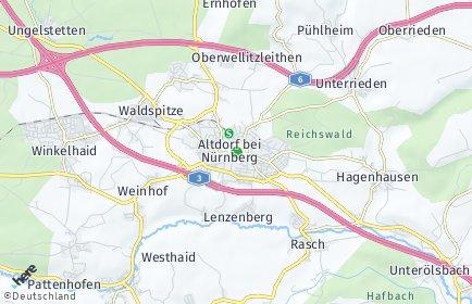 Stadtplan Altdorf bei Nürnberg