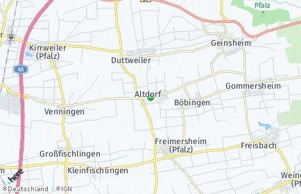 Stadtplan Altdorf (Pfalz)