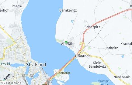 Stadtplan Altefähr OT Grahlerfähre