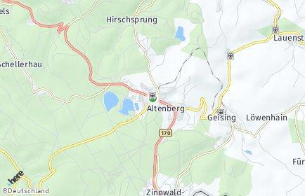 Stadtplan Altenberg (Erzgebirge) OT Schellerhau