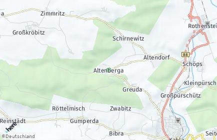 Stadtplan Altenberga