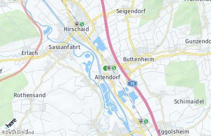 Stadtplan Altendorf (Kreis Bamberg)