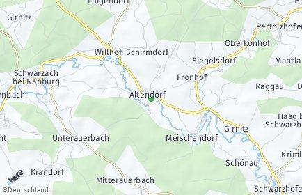 Stadtplan Altendorf (Kreis Schwandorf)