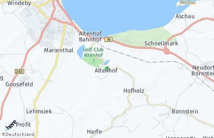 Stadtplan Altenhof bei Eckernförde
