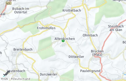 Stadtplan Altenkirchen (Pfalz)