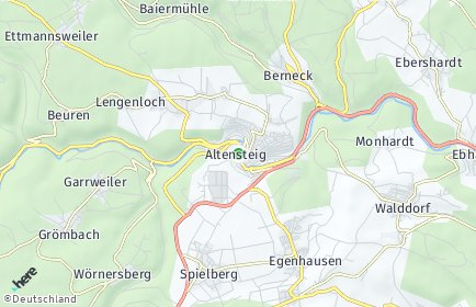 Stadtplan Altensteig