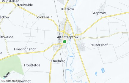Stadtplan Altentreptow