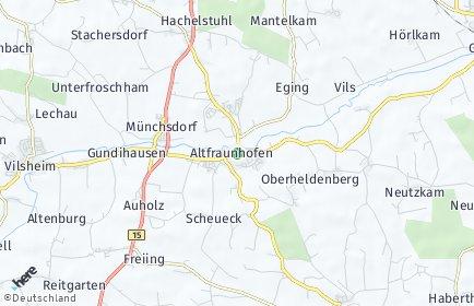 Stadtplan Altfraunhofen
