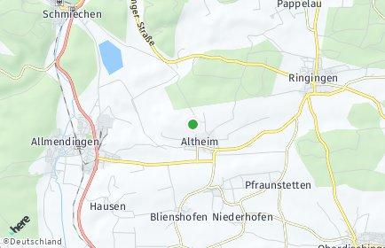 Stadtplan Altheim bei Ehingen (Donau)