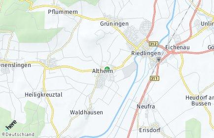 Stadtplan Altheim bei Riedlingen