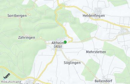 Stadtplan Altheim (Alb)