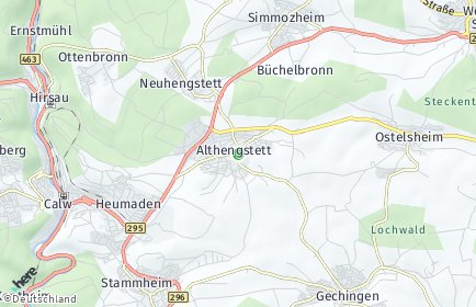 Stadtplan Althengstett