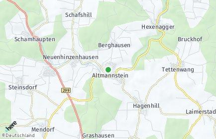 Stadtplan Altmannstein OT Schafshill