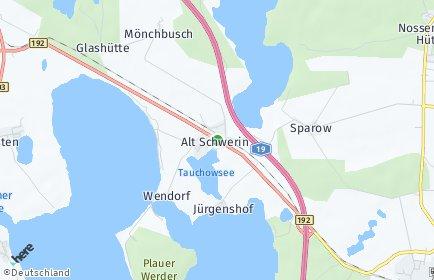 Stadtplan Alt Schwerin