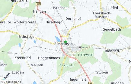 Stadtplan Altshausen