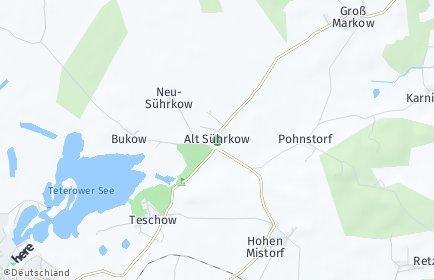 Stadtplan Alt Sührkow