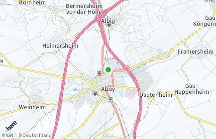 Stadtplan Alzey