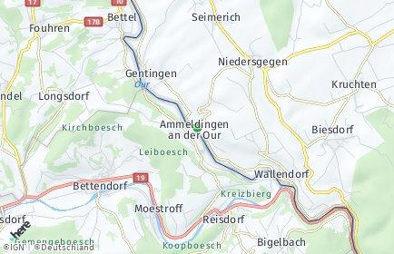 Stadtplan Ammeldingen an der Our