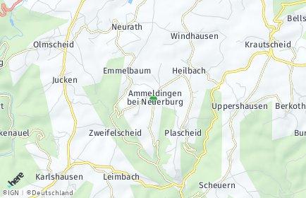 Stadtplan Ammeldingen bei Neuerburg