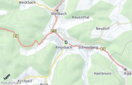 Stadtplan Amorbach