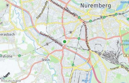 Stadtplan Nürnberg OT Schweinau