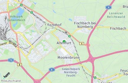 Stadtplan Nürnberg OT Altenfurt