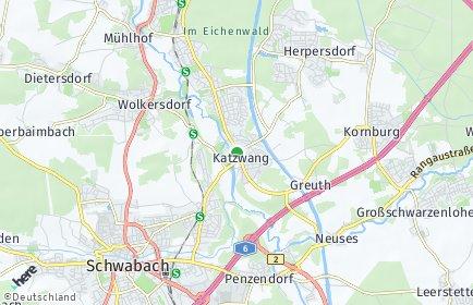 Stadtplan Nürnberg OT Katzwang