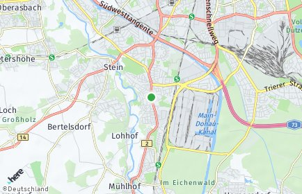 Stadtplan Nürnberg OT Eibach