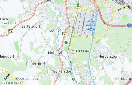 Stadtplan Nürnberg OT Reichelsdorf