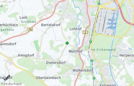 Stadtplan Nürnberg OT Krottenbach