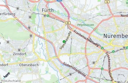 Stadtplan Nürnberg OT Höfen
