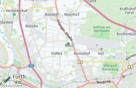 Stadtplan Nürnberg OT Buch