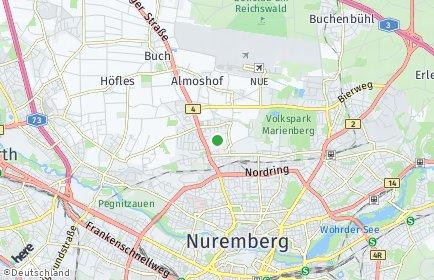 Stadtplan Nürnberg OT Thon