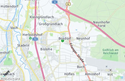 Stadtplan Nürnberg OT Boxdorf
