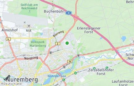 Stadtplan Nürnberg OT Schafhof