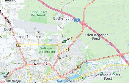 Stadtplan Nürnberg OT Ziegelstein