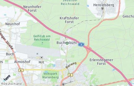 Stadtplan Nürnberg OT Buchenbühl