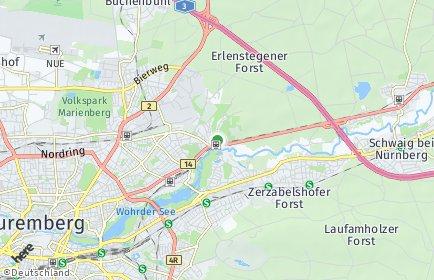 Stadtplan Nürnberg OT Erlenstegen