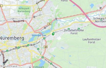 Stadtplan Nürnberg OT Mögeldorf