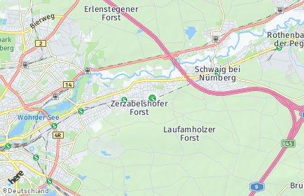 Stadtplan Nürnberg OT Laufamholz