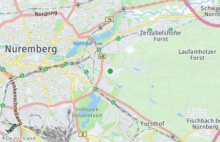 Stadtplan Nürnberg OT Zerzabelshof